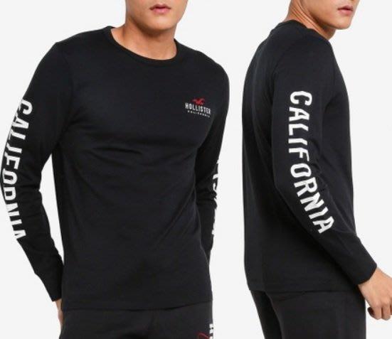 Hollister HCO 海鷗 長袖T恤 車繡貼布logo 現貨 黑色