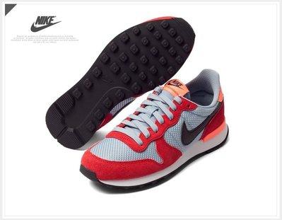 =CodE= NIKE WMNS INTERNATIONALIST 麂皮帆布復古跑鞋(紅灰黑) 828407-605 女