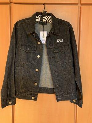 CAPTAIN HOOK 16' PIN-UP DENIM JACKET 黑牛仔外套~全新M號