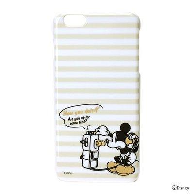 尼德斯Nydus~* 日本迪士尼 米奇 Mickey 米老鼠 硬殼 手機殼 5.5吋 iPhone6+ 素面燙金款