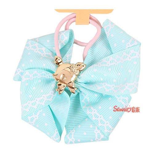 《東京家族》現貨日本三麗鷗 哈妮鹿 粉嫩緞帶蝴蝶結彈力髮束(點點) 髮圈髮飾