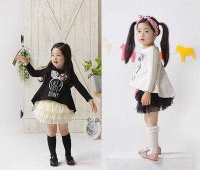 《公主&王子的穿衣鏡》正韓kio coco可愛風傘狀上衣+蛋糕裙套裝 (白衣黑裙 11)~全新品出清~一元起標