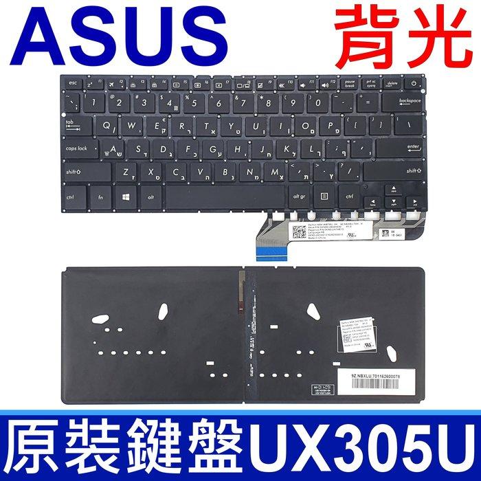 ASUS UX305U 背光 英文款 鍵盤UX305UA UX305UAB NSK-WB7BU 0KN0-UH1HE13