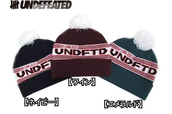 【 超搶手 】 全新正品 2012 秋冬 UNDEFEATED UNDFTD POM-POM BEANIE 雪球 毛帽 黑色 棗紅 藍綠色