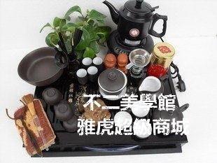 【格倫雅】^紫砂茶具實木茶盤茶具套裝 紫砂茶盤電茶壺功夫茶具17676[g-l-y56