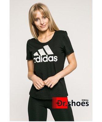 ☆鞋醫生☆ADIDAS FOIL TEXT BOS 黑 LOGO短袖 女 短袖上衣 $880型號CV4561