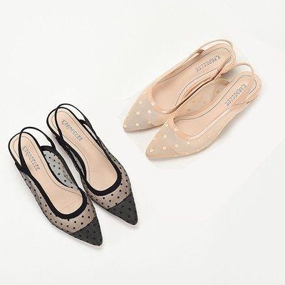 5Cgo【鴿樓】涼鞋純色波點女鞋新款日...
