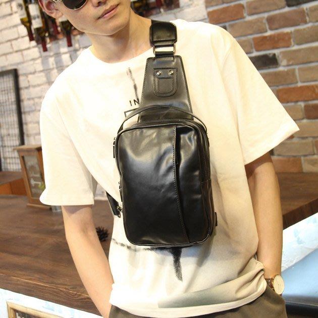 FINDSENSE 韓國男包 G6 男用休閒包 軟皮小胸包男士戶外運動休閒單肩包潮包男軟皮斜挎包