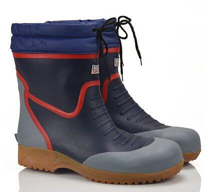 紅雨鞋  帶鋼頭防滑大碼男士雨鞋防水雨靴時尚男