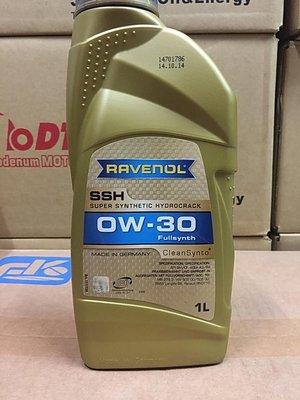 建議售價【高雄阿齊】漢諾威 RAVENOL SSH 0W30 0w30 MB 229.3 全合成機油 1L