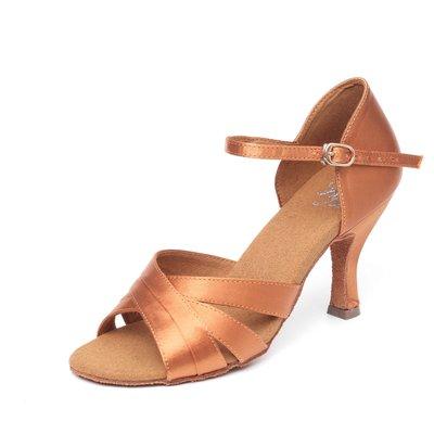 "Afa安法國標舞鞋/拉丁舞鞋 原價$2,800~~女拉丁 古銅緞40702 鞋跟2.5""、3"""