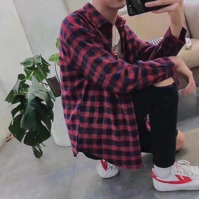 ♥【📷lin帥氣潮男爆款】☛型男必備 ☚複古港風襯衣 學生短袖襯衫♥