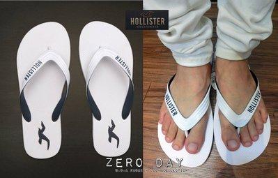 【零時差美國時尚網】HCO Hollister co. Classic Beach Flip Flops人字海灘拖鞋-白