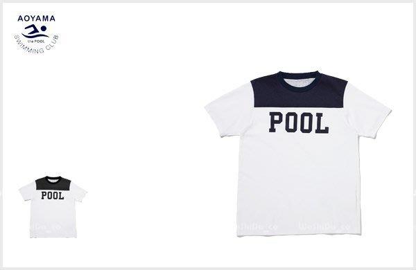 WaShiDa PLUS+【 the POOL aoyama 字母 雙色 足球 上衣 T恤 】- POM2527