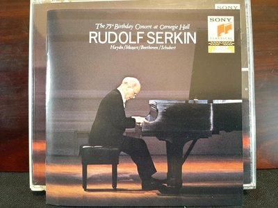 Rudolf Serkin-The 75th    Birthday Concert At Carnegie Hall,魯道夫·塞爾金75歲生日卡內基音樂會