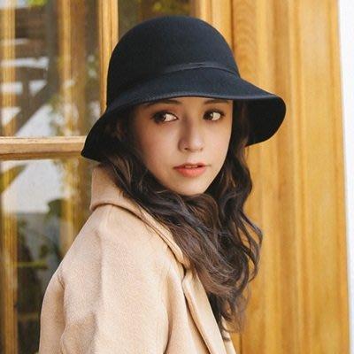 羊毛呢帽 漁夫 帽-簡約百搭純色休閒女帽子4色73tk14[獨家進口][米蘭精品]