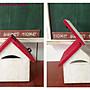 ZAKKA懷舊風信箱(意見箱收納櫃屋簷籬笆郵筒咖啡杯架花台小木屋DM架黑板窗台燭台婚禮佈置花架攤位飾品櫃文件櫃木箱收納箱
