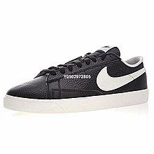 """Nike Blazer Low Premium""""黑白皮""""百搭 低筒 休閒滑板鞋 454471-004 男鞋"""