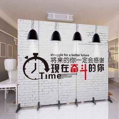 ZIHOPE 訂製 歐式屏風隔斷墻簡約現代客廳折疊餐廳辦公室實木裝飾移動簡易折屏ZI812