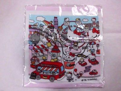 GIFT41 土城店 市伊瓏屋 HELLO KITTY 凱蒂貓 大方巾 手巾 (遊樂園設計系列) 4901610232514