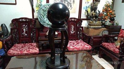 黑曜水晶球/直徑30公分重量32.3公...