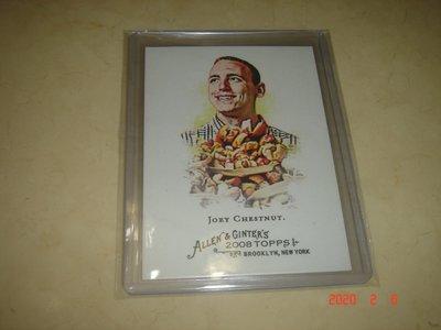 大胃王 Joey Chestnut  2008 Topps Allen & Ginter  #109  球員卡