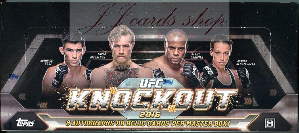 【☆ JJ卡舖 ☆】2016 Topps UFC Knockout 格鬥拳擊 收藏卡盒 每盒平均有8張以上 簽名或用品卡