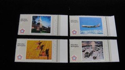 【大三元】美洲郵票-尼加拉瓜郵票--新票4枚-原膠