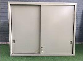 三尺雙層滑門公文櫃附鑰匙 辦公櫃 公文櫃 鐵櫃 置物櫃 收納櫃 A2051-予新傢俱