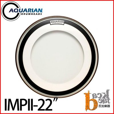 "[反拍樂器]AQUARIAN Impact Clear Double Ply IMPII 22""鼓皮 免運費"