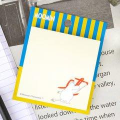 尼德斯Nydus~* 日本限定 日版 Moomin 嚕嚕米家族 嚕嚕米 可黏式 便條紙 60張 淺黃