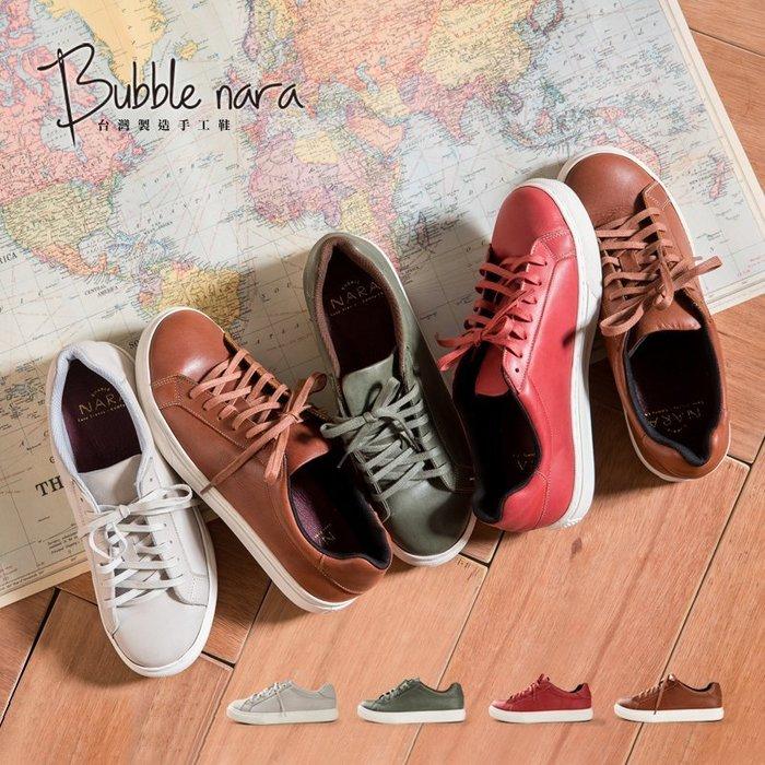 小白鞋 板鞋 環遊世界休閒小皮鞋。Bubble Nara波波娜拉。拍照走路不NG款YA3388
