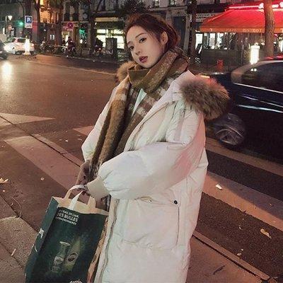 棉服女中長款2019新外套冬裝學生chic棉襖羽絨棉衣ins加厚面包服