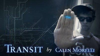 魔術道具 橡皮筋跳躍 橡皮筋瞬移 TRANSIT by Calen Morelli 原文教學+道具+專用橡皮筋