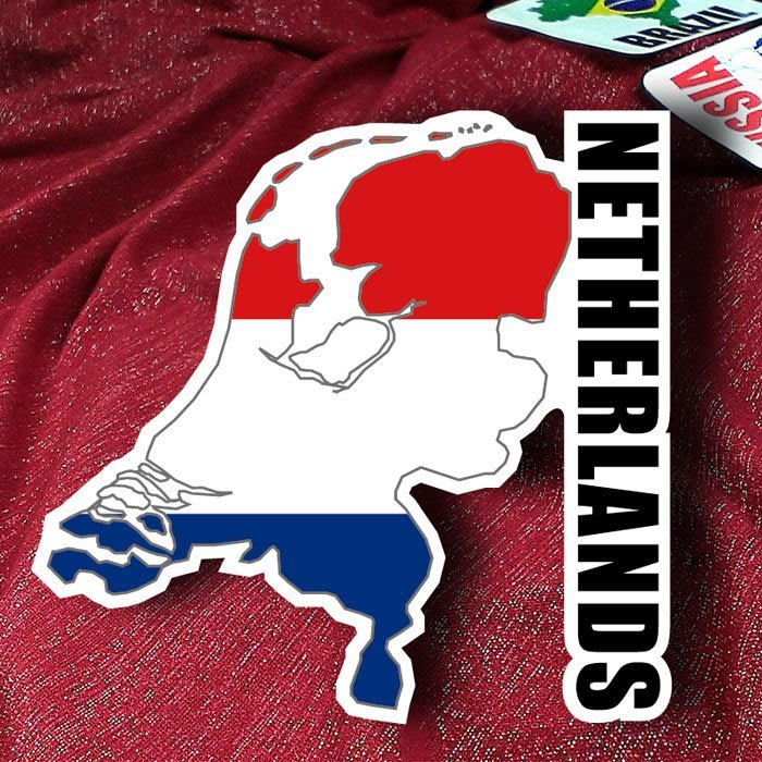 【衝浪小胖】荷蘭國旗地圖抗UV、防水登機箱貼紙/Netherlands/世界多國款可收集和訂製