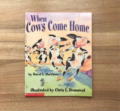 *【小pen英語繪本】*有影片導讀,親子共讀一起成長~When cows come home