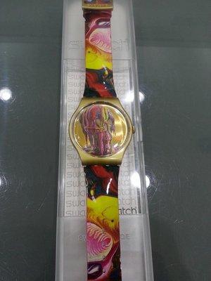 [永達利鐘錶 ] swatch 骷髏混色設計膠帶錶 SUOZ115 原廠公司保固24個月 42mm