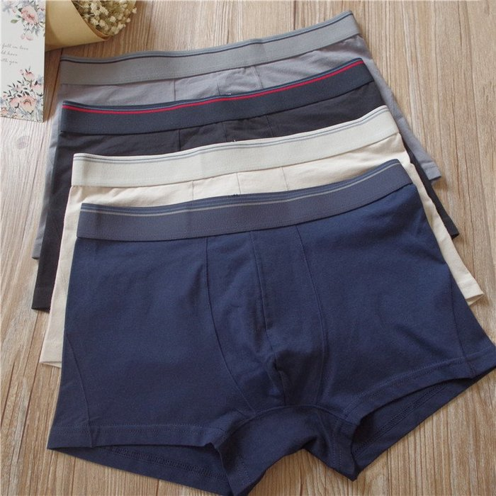 日本男四角褲 中腰 包臀 有大尺碼 日本平口男士內褲 三件790元 下標後留言尺寸顏色即可