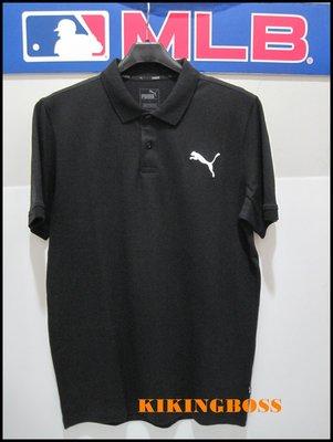 【喬治城】PUMA 男款 休閒運動短袖Polo衫 電繡 (黑色) 85175921