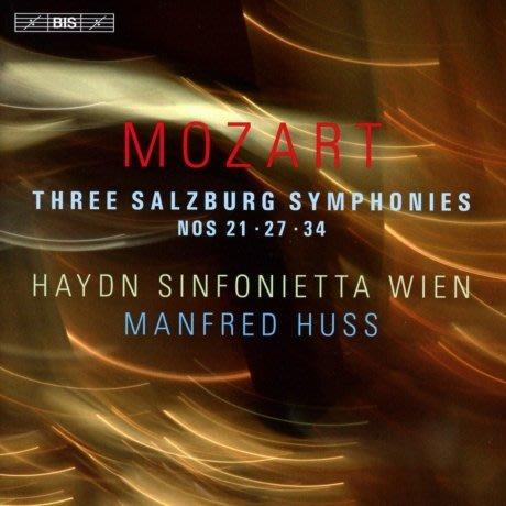 莫札特三首薩爾茲堡交響曲 HAYDN SINFONIETTA MANFRED HUSS-BIS2218