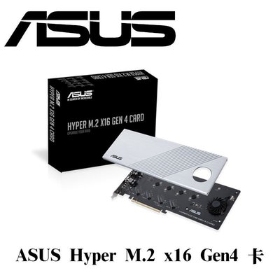ASUS 華碩 HYPER-M2-X16-GEN4-CARD PCIe CARD PCIe介面卡 最新第4版