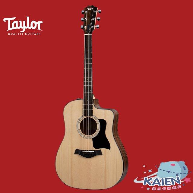 『凱恩音樂教室』免運分期 Taylor 專賣 110CE 面單 木吉他 西卡雲杉 墨西哥製 TLGF-110-CE
