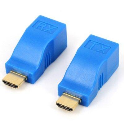 現貨 RJ45 轉 HDMI 轉接頭 延長器 使用大同網路線 最長支援 30米 台中可自取
