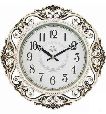 【Timezone Shop】 Diyida帝易達~  歐式奢華 銀色花邊 懷舊縷空工藝 時鐘/掛鐘/clock/壁鐘