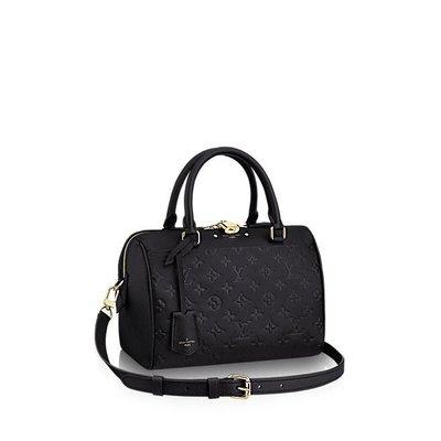 全新正品 Louis Vuitton Speedy 25 揹帶 LV M42401 黑色 M44068 壓紋