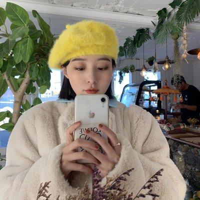 衣萊時尚-網紅日系百搭純色蓓蕾帽子女兔...