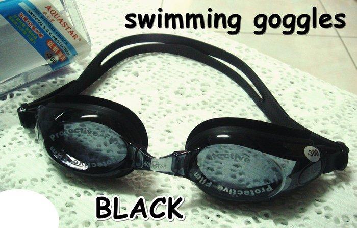 Kini泳裝-游泳近視泳鏡-黑色BLACK-全矽膠-好戴/防霧-可更換式鼻樑[150-1000度]特價300元