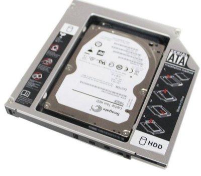 通用型 9.5mm SATA第二顆硬碟托架/ 筆電光碟機轉接硬碟盒/SATA3