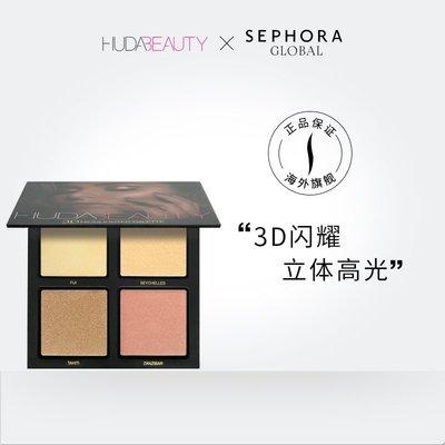 尹茵小姐·huda beauty 3D高光盤30g神仙立體蜜桃燈泡肌自然細膩 絲芙蘭海外