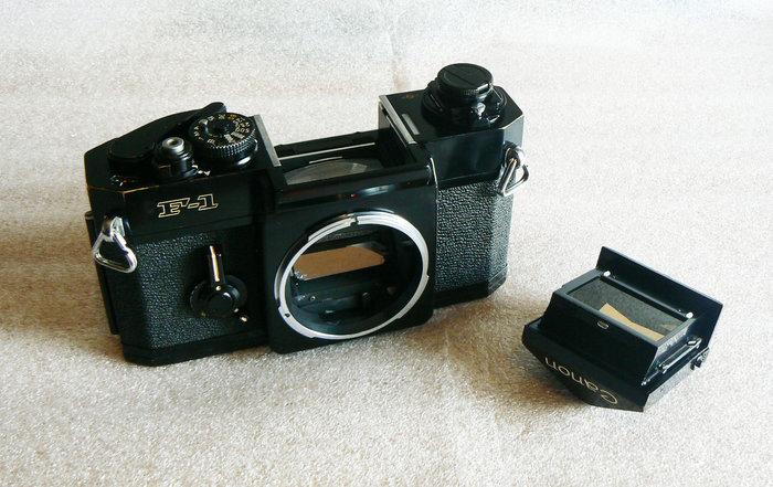 【悠悠山河】70代Canon代表作 專業級底片單眼相機--Canon F-1 黑機 已全機保養 海棉已換新 入手即可拍攝